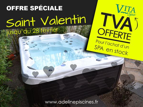 Offre spéciale saint valentin - TVA offerte pour l'achat d'un spa en stock